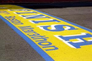 Boston finish line